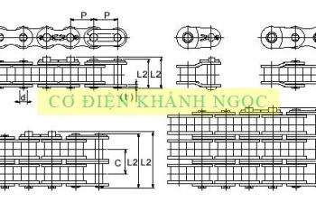 Thông số xích công nghiệp tiêu chuẩn DIN ISO BS